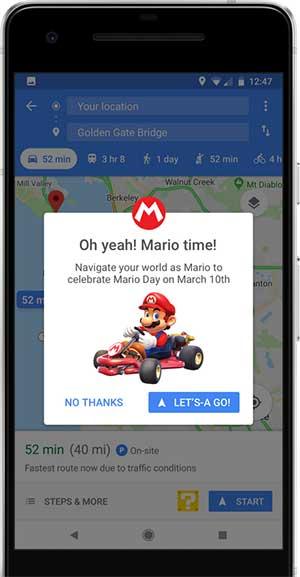 كيف تحصل على ماريو في خرائط جوجل؟