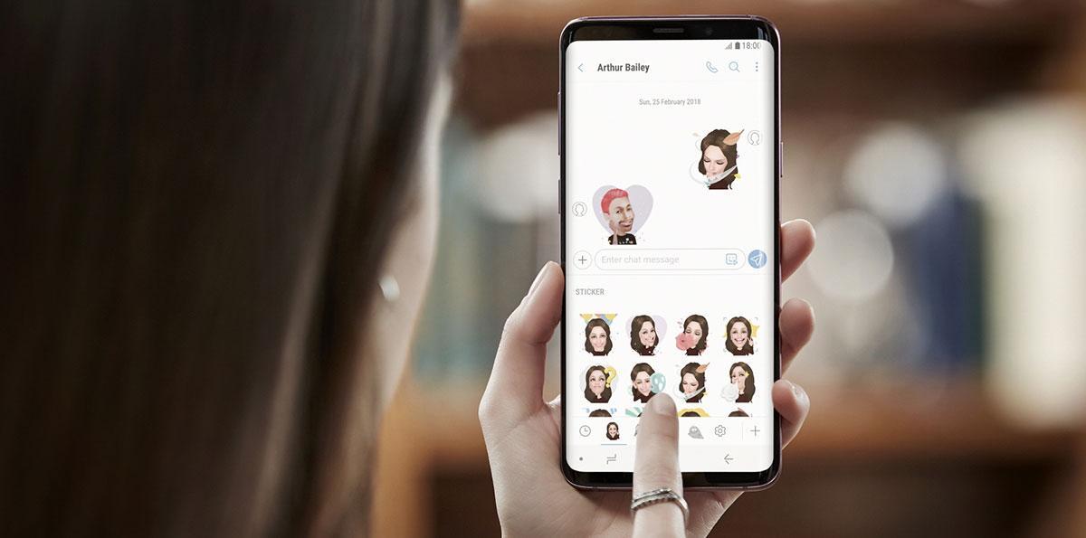 تدعم كاميرا جالاكسي اس 9 ميزة AR Emoji التي تحول صور السيلفي لشخصيات كارتونية