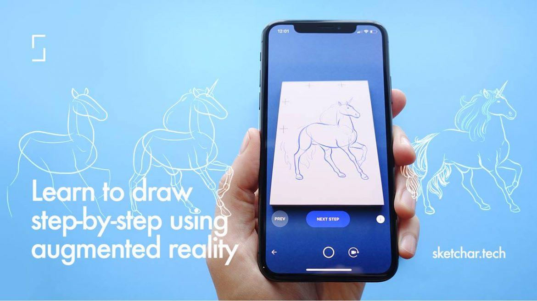SketchAR: تطبيق لتعلم الرسم بسهولة اعتمادا على تقنية الواقع المعزز