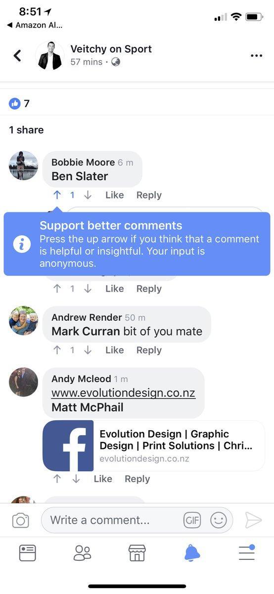 فيس بوك تحتبر ميزة تقييم التعليقات على غرار Reddit