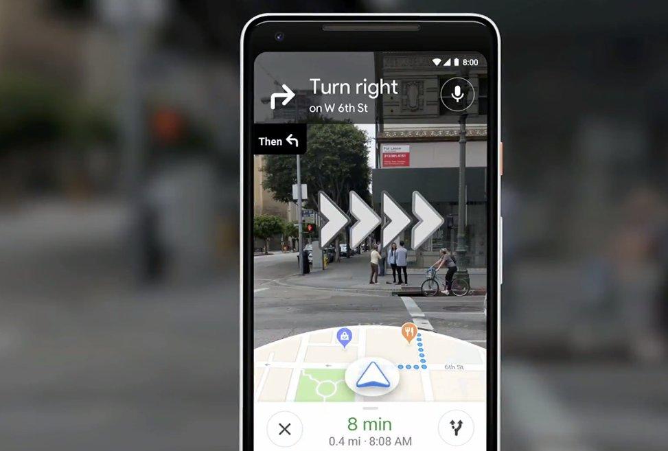 خرائط جوجل مدمجة مع الكاميرا
