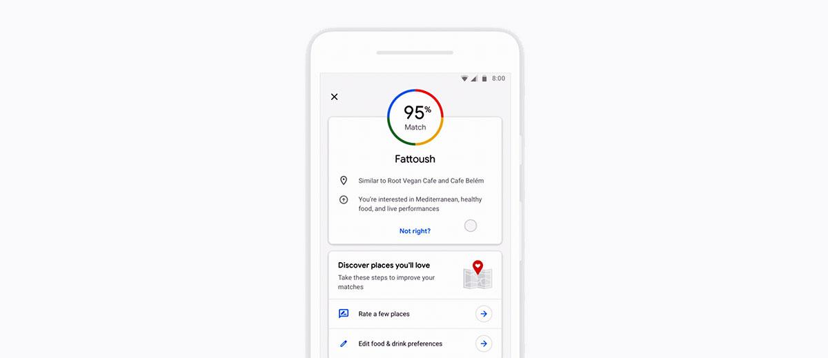 من مميزاتخرائط جوجل Google Maps إمكانية إعداد قوائم مختصرة للمطاعم ومشاركتها مع الأصدقاء