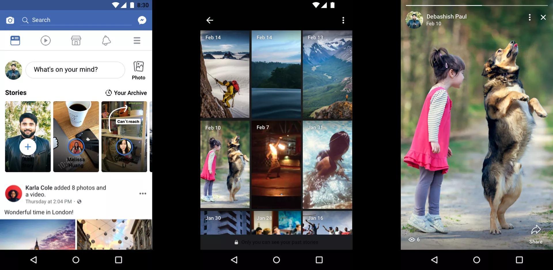 توفر الميزة الثالثة لمستخدمي Facebook إمكانية حفظ أبرز المشاركات من القصص التي يشاركونها