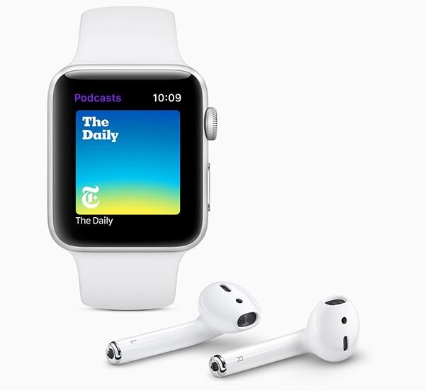 دعم تطبيق البودكاست Podcasts ساعة ابل watchOS 5