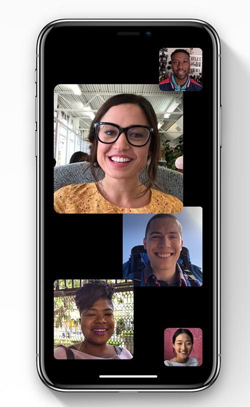 FaceTime فيس تايم يوفر مكالمات الفيديو الجماعية لمستخدمي ايفون