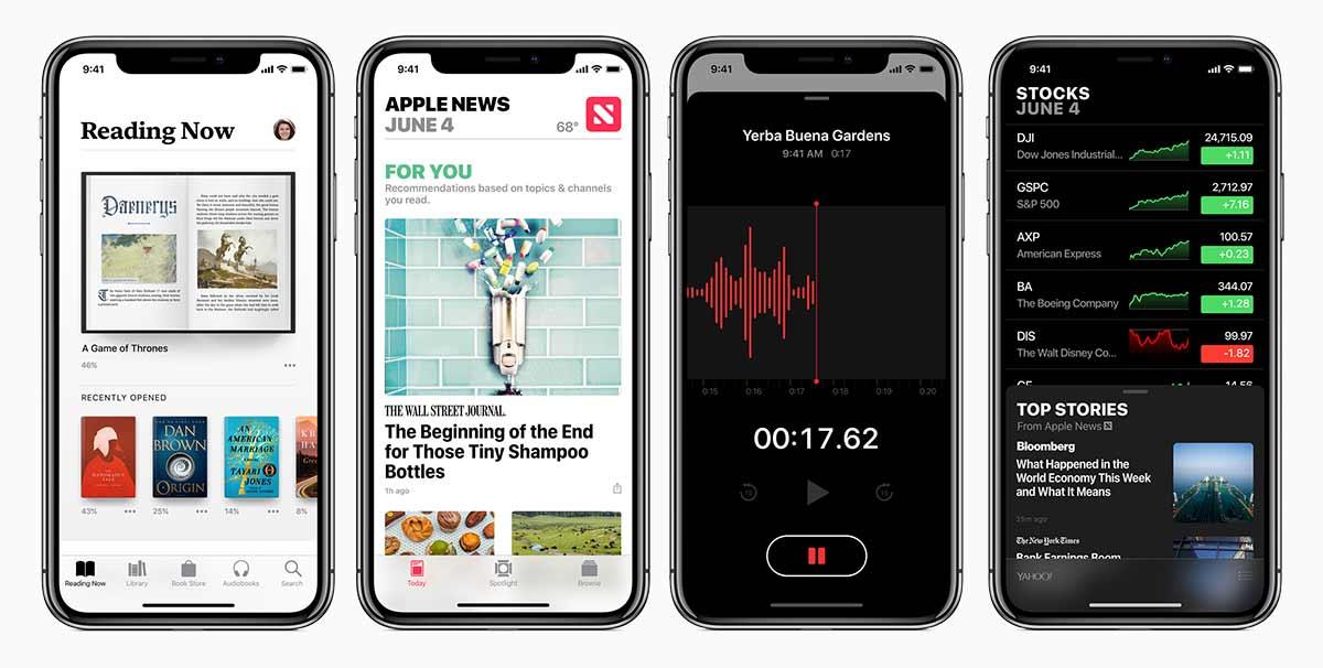 يقدم iOS 12 أيضا تحسينات على تطبيقات آبل المختلفة