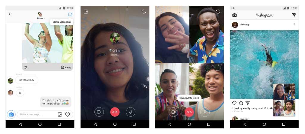 توفرميزة مكالمات الفيديو الجماعية في انستجرام الدردشة مع 4 أصدقاء في نفس الوقت