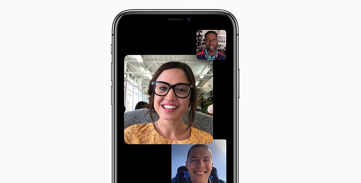 مكالمات الفيديو الجماعية في FaceTime في ios 12