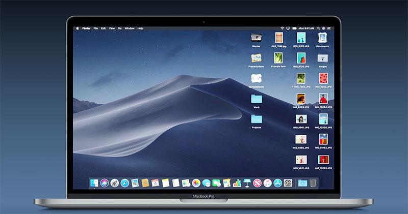 سطح المكتب أكثر ترتيبا في macOS Mojave