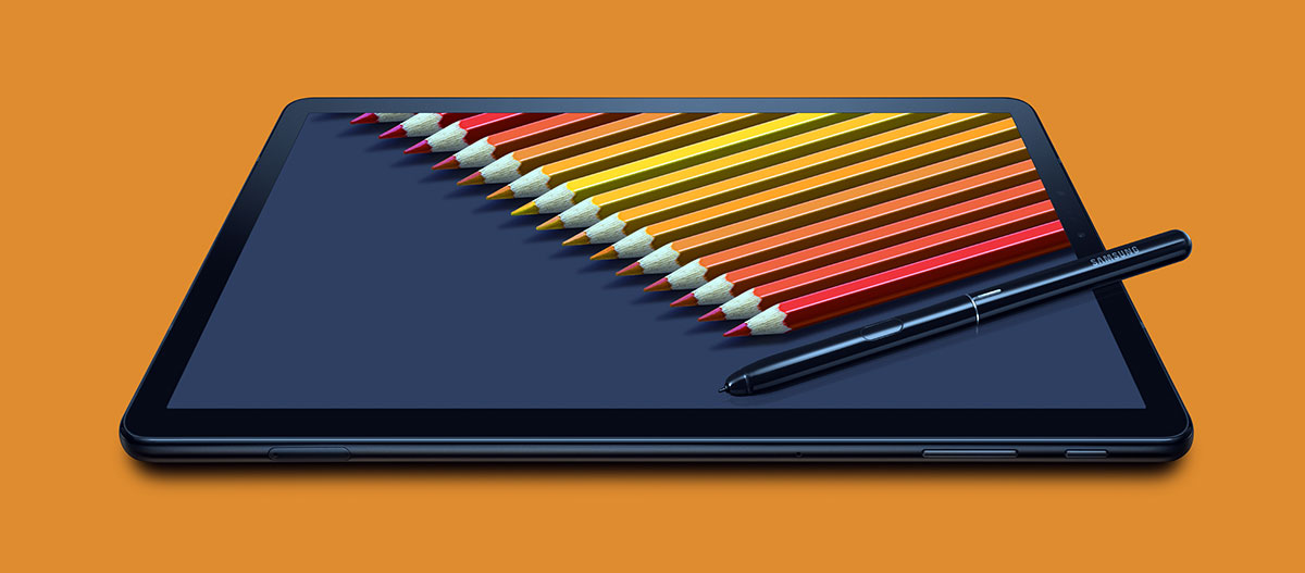 يأتيSamsung Galaxy Tab S4 مع قلم رقمي مرفق S Pen