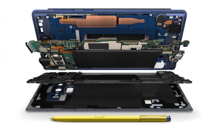 نظام تبريد جديد في Galaxy Note9 يضمن تجربة سلسلة في أثناء اللعب