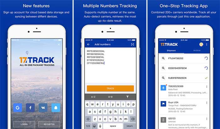 17TRACK أفضل تطبيقات تتبع الشحنات