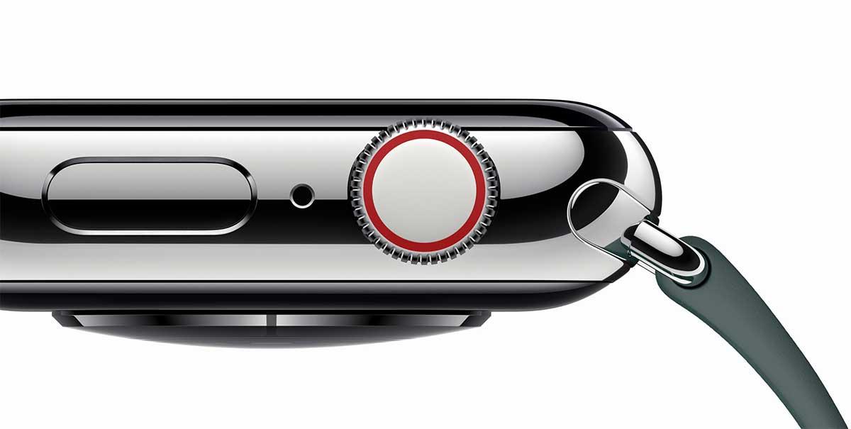 زودت آبل الزر الجانبي The Digital Crown في ساعتها الذكية الجديدة ووتش سيرس 4 بميزة الردود التفاعلية عبر الاهتزازات