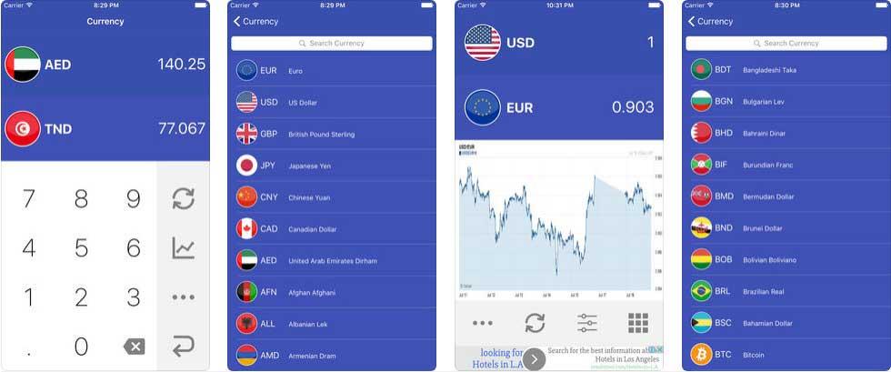 Easy Currency Converter أفضل تطبيقات تحويل العملات