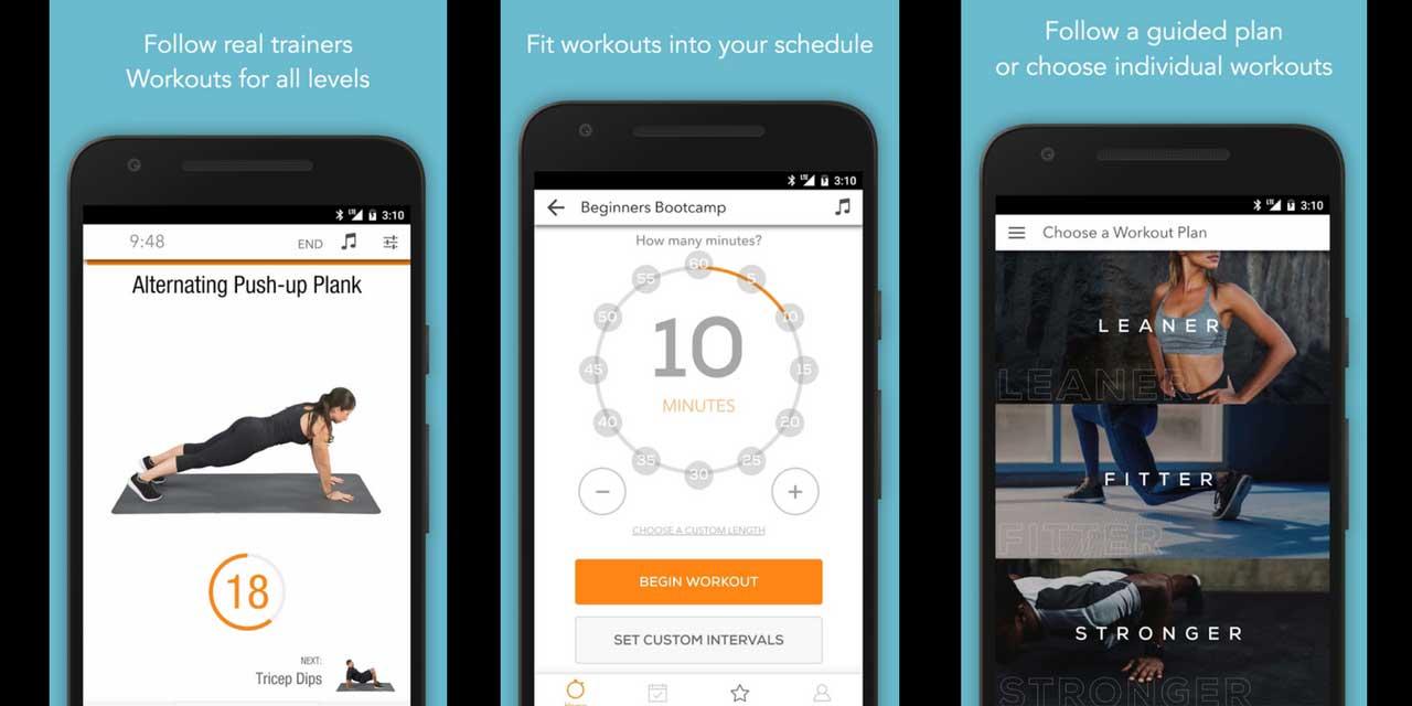 أفضل تطبيقات اللياقة البدنية Sworkit