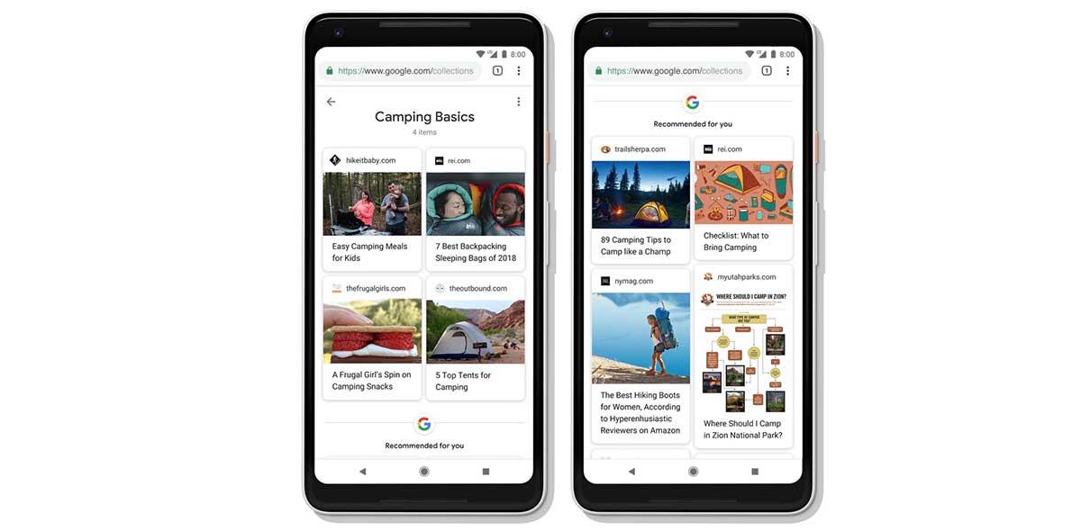 تنظيم نتائج البحث في مجموعات Collections - بحث جوجل