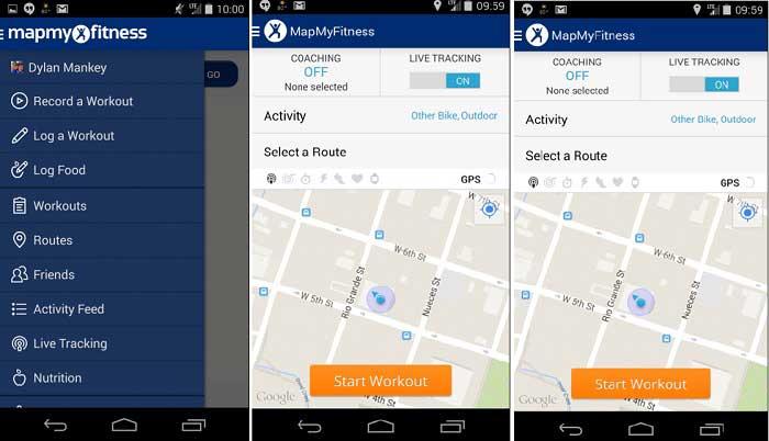 Map My Fitness أفضل تطبيقات اللياقة البدنية