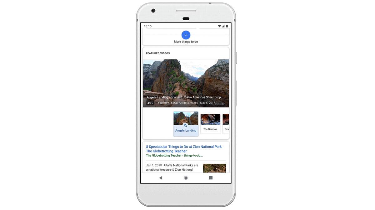 مقاطع الفيديو المميزة في نتائج بحث جوجل