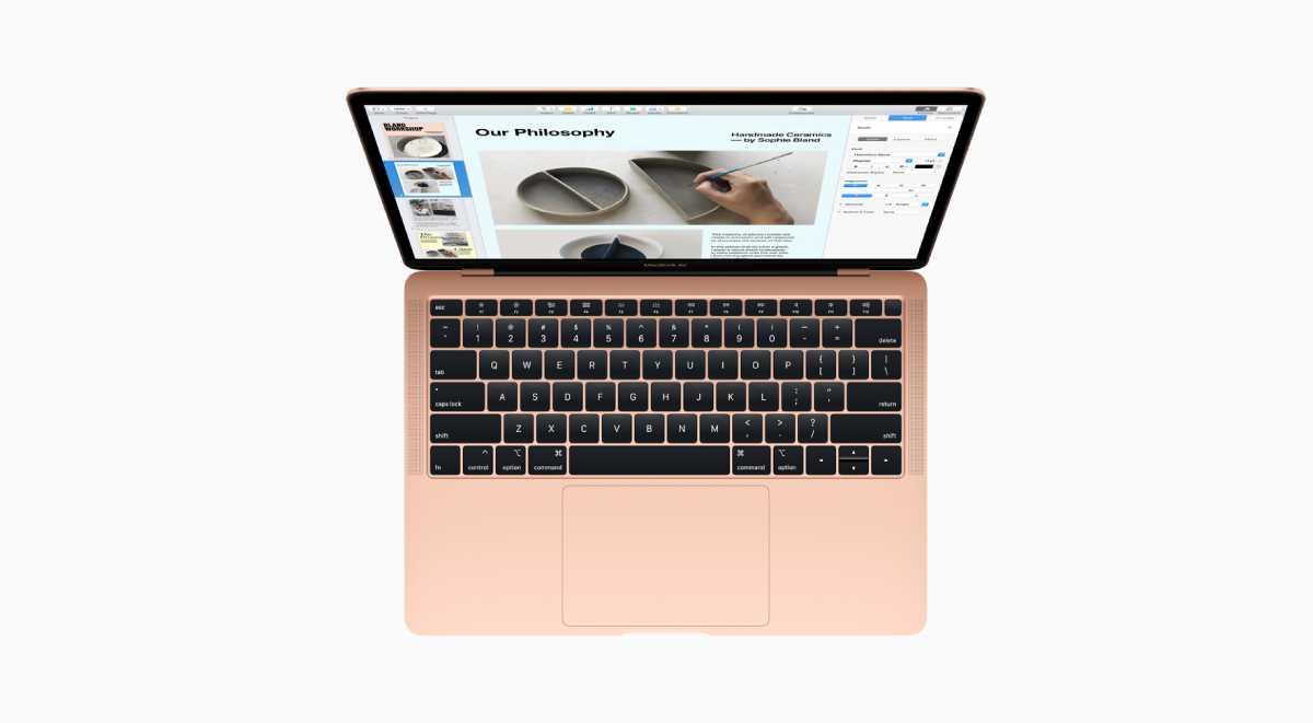 يحملMacBook Air 2018 لوحة مفاتيح أفضل مدمج بها مستشعر لبصمات الأصابع