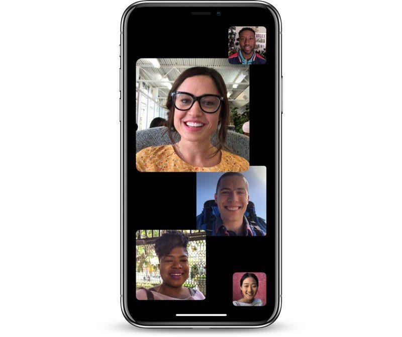 دعم ميزة مكالمات الفيديو الجماعية في FaceTime في iOS 12.1