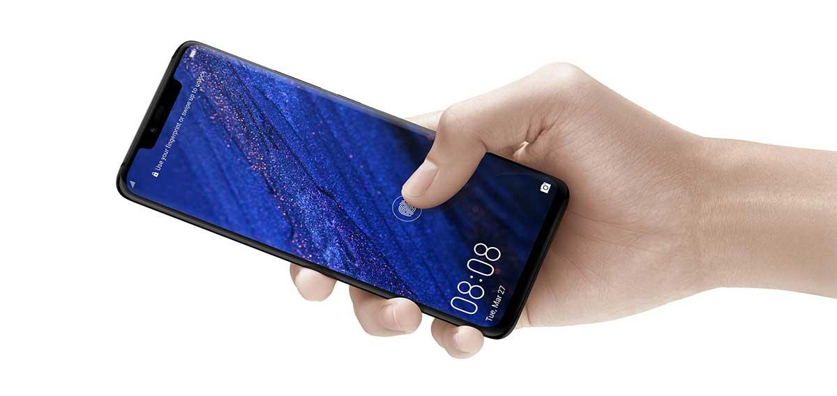 يحمل Huawei Mate 20 Pro مستشعر للبصمات مدمجا في الشاشة