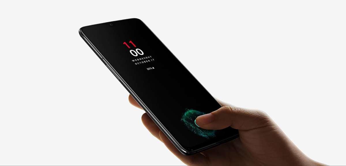 يحمل OnePlus 6T وان بلس 6 تي شاشة مدمج بها مستشعر لبصمات الأصابع