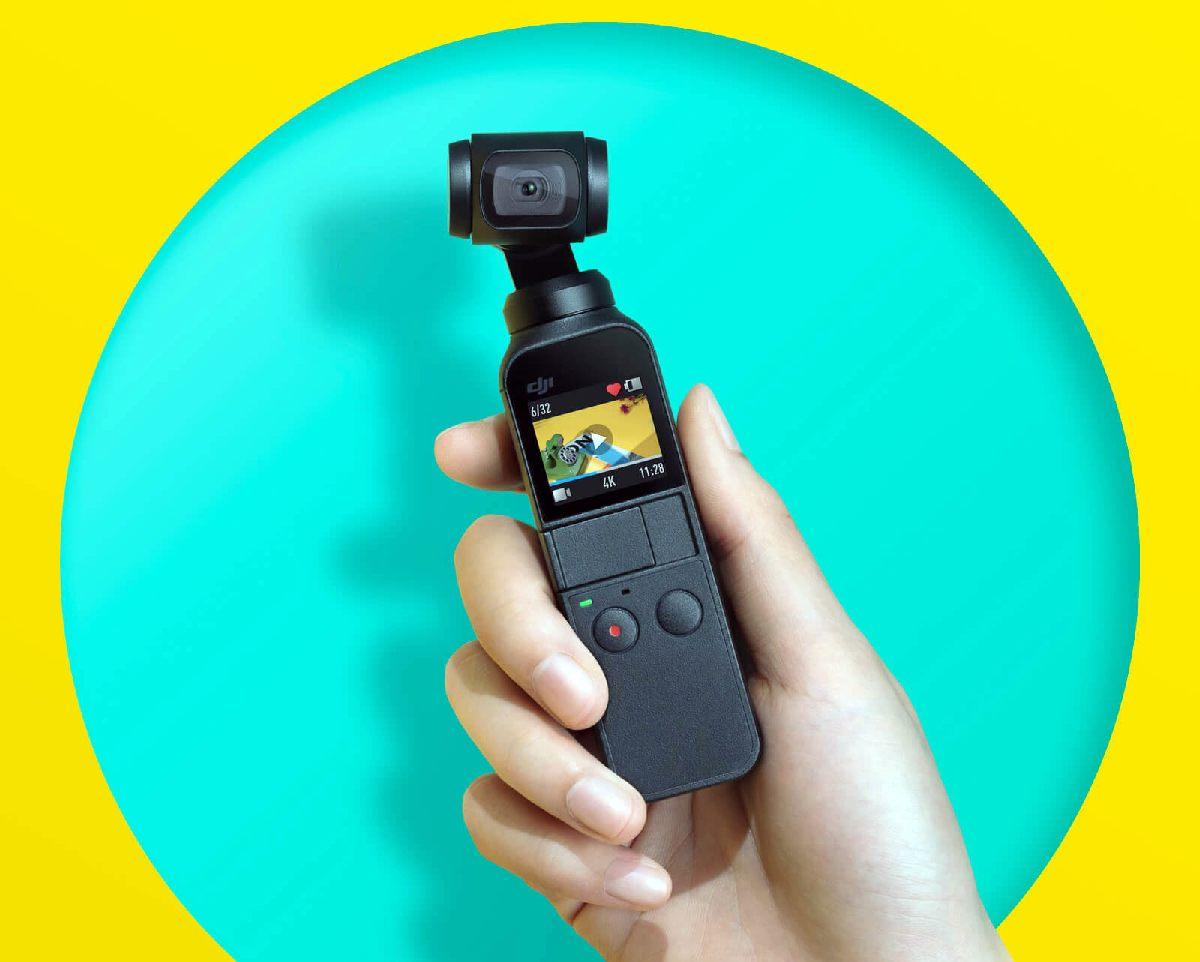 Osmo Pocket: كاميرا صغيرة للحركة مزودة بمثبت للصور