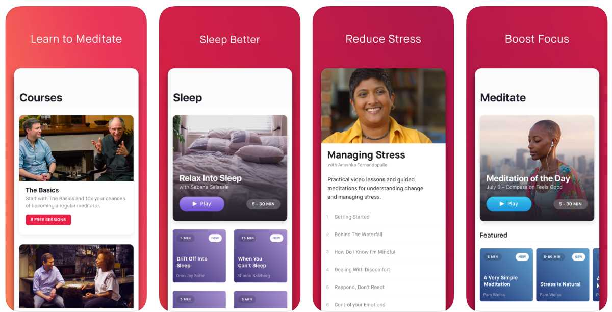 أفضل تطبيقات العناية بالنفس لهواتف ايفون وأجهزة ايباد Happier: Meditation