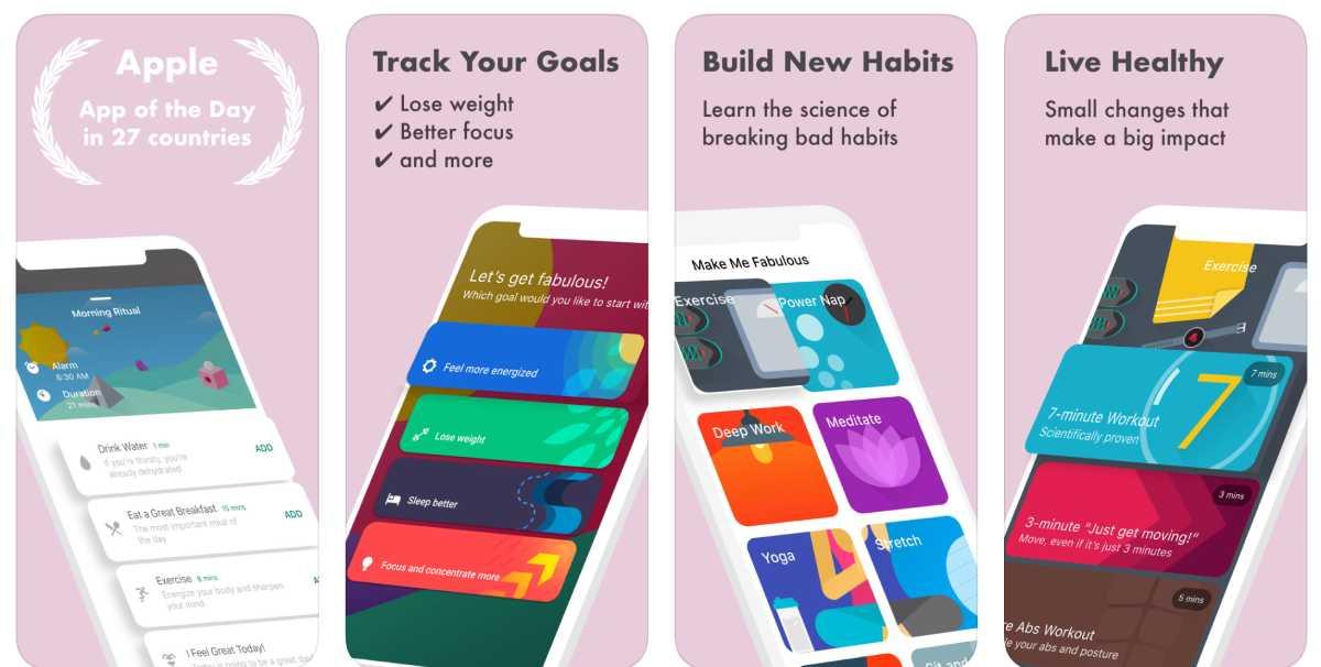 أفضل تطبيقات العناية بالنفس لهواتف ايفون وأجهزة ايباد - fabulous