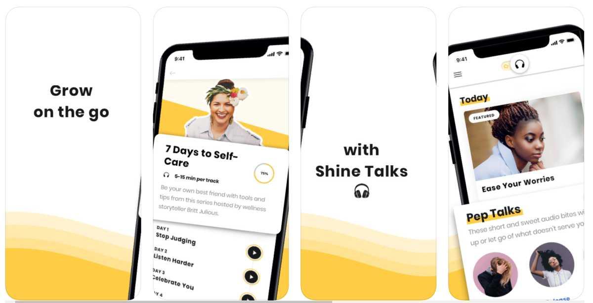 أفضل تطبيقات العناية بالنفس لهواتف ايفون وأجهزة ايباد - shine