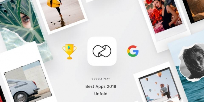 "Unfold: تطبيق لرواية ومشاركة ""قصص"" احترافية عبر فيس بوك وانستجرام وسناب شات"