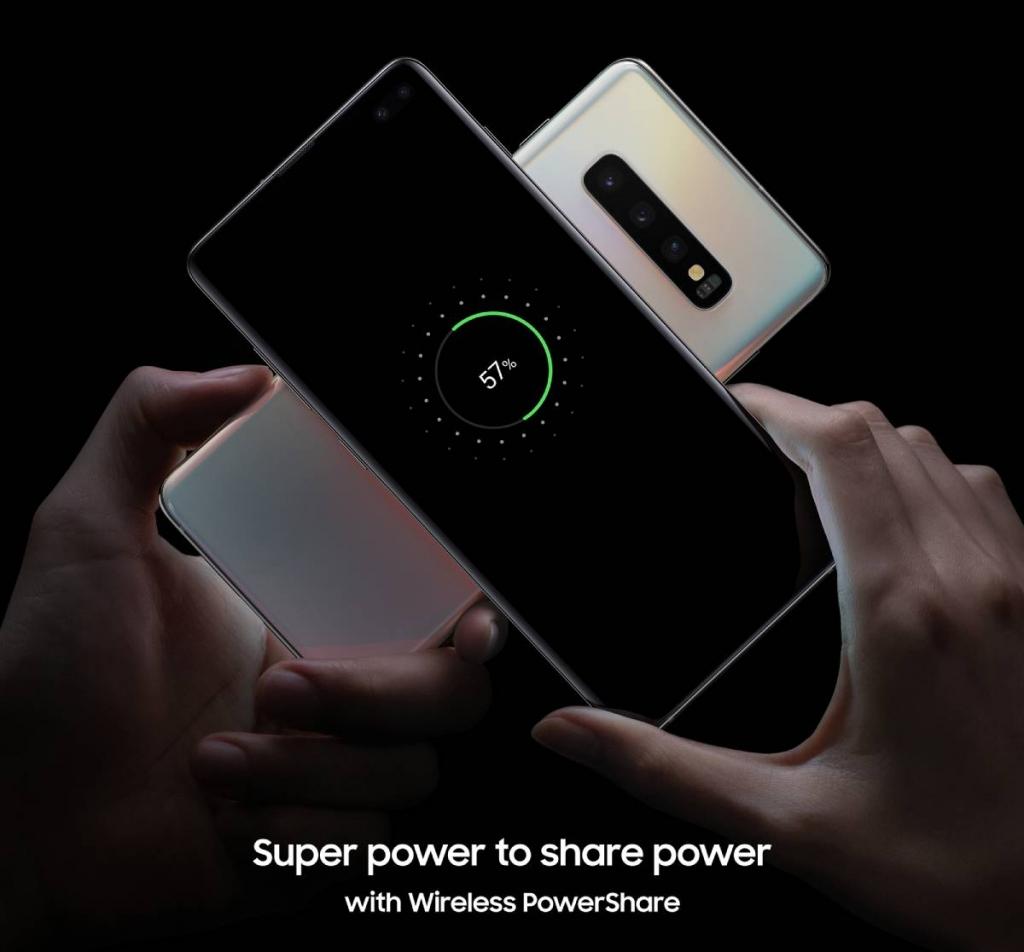 يدعم Galaxy S10 شحن الأجهزة الذكية الأخرى لاسلكيا