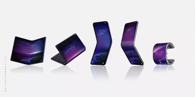 TCL الصينية تخطط للكشف عن 5 أجهزة قابلة للطي منهم هاتف يطوى كساعة
