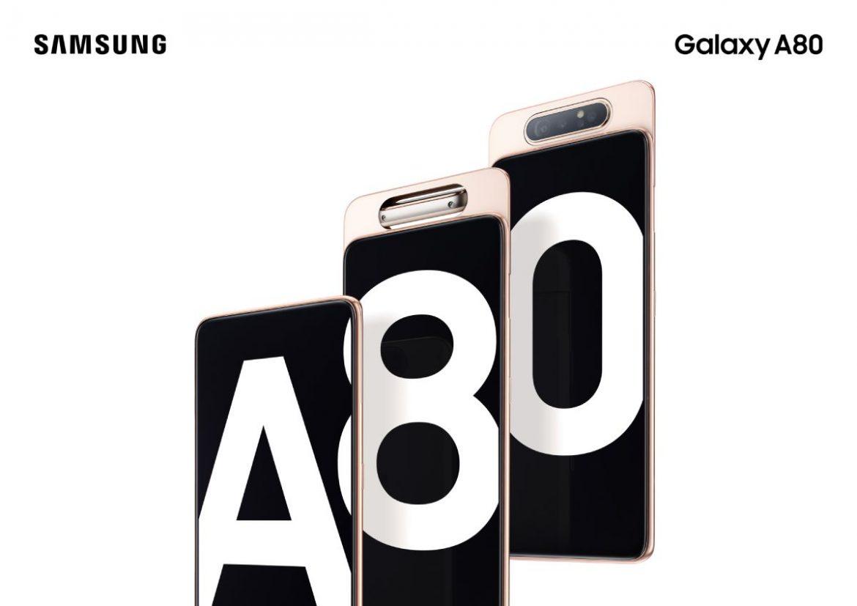 Galaxy A80 جالاكسي ايه 80: مواصفات وسعر هاتف سامسونج بكاميرا دوارة