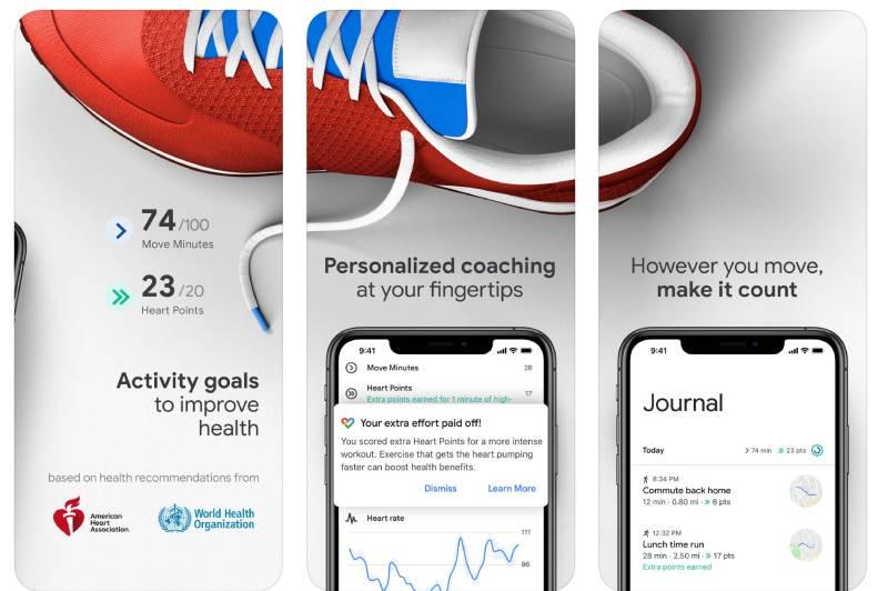 يساعد جوجل فيت المستخدم في الحفاظ على صحة القلب