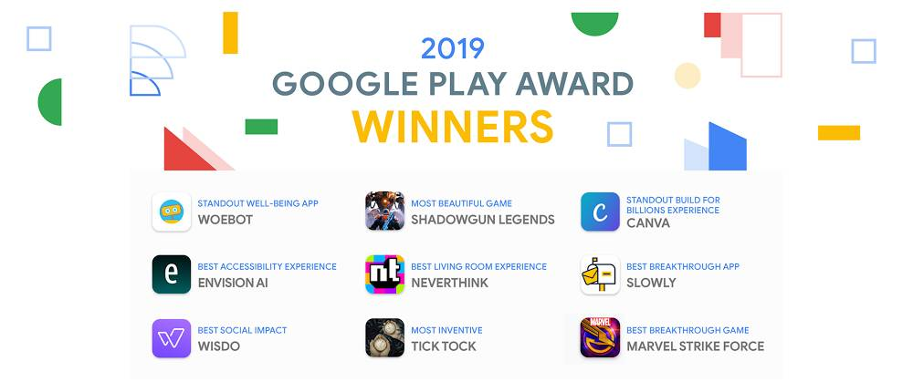 5856f56a2 أعلنت شركة جوجل عن جائزة جوجل بلاي لعام 2019 لأفضل التطبيقات والألعاب  لأجهزة أندرويد، واعتادت الشركة الأمريكية على تقديم جائزة جوجل بلاي لمجموعة  من ...