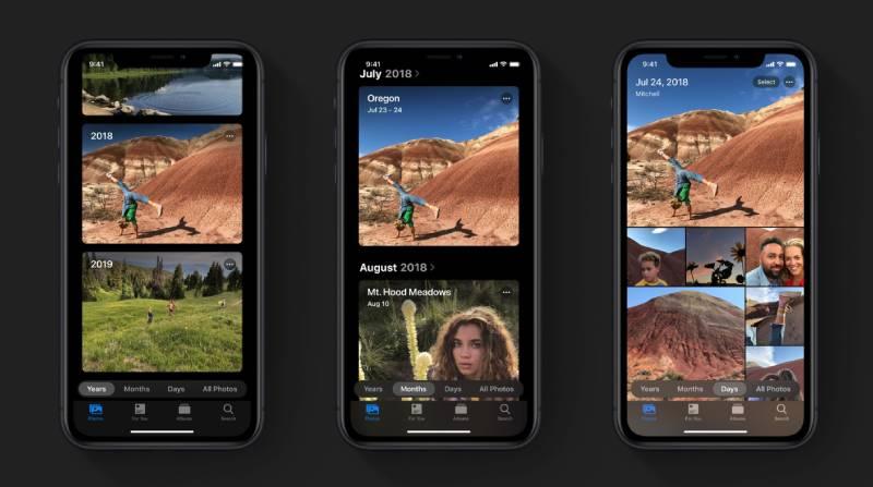 تحسينات على تطبيق الصور وأدوات تعديل الصور والفيديو iOS 13