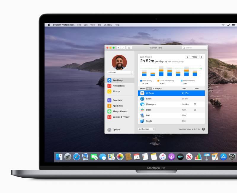 """دعم ميزة """"وقت الشاشة"""" في macOS Catalina"""