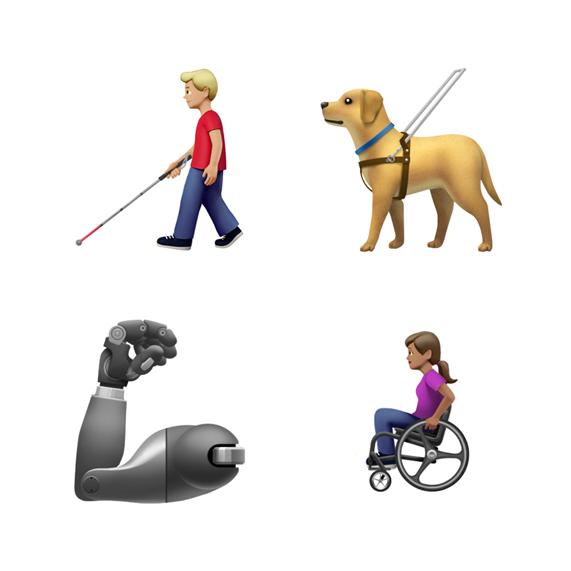 الايموجي الجديدة لايفون الحيوانات ذوي الإعاقة