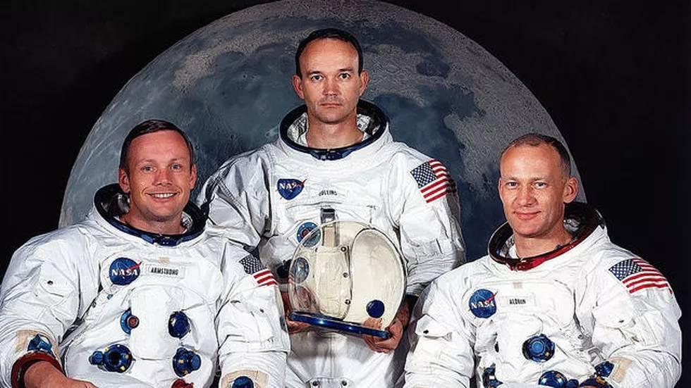 """رواد الفضاء في أول مهمة فضائية للقمر """"أبولو 11"""""""