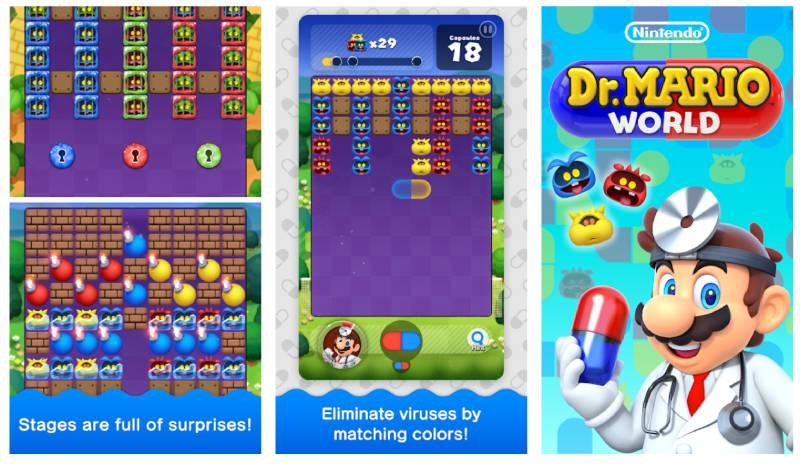 لعبة عالم دكتور ماريو Dr. Mario World