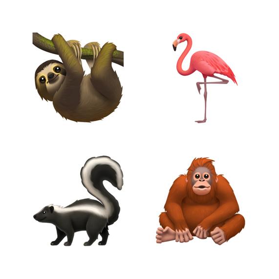 الايموجي الجديدة لايفون الحيوانات
