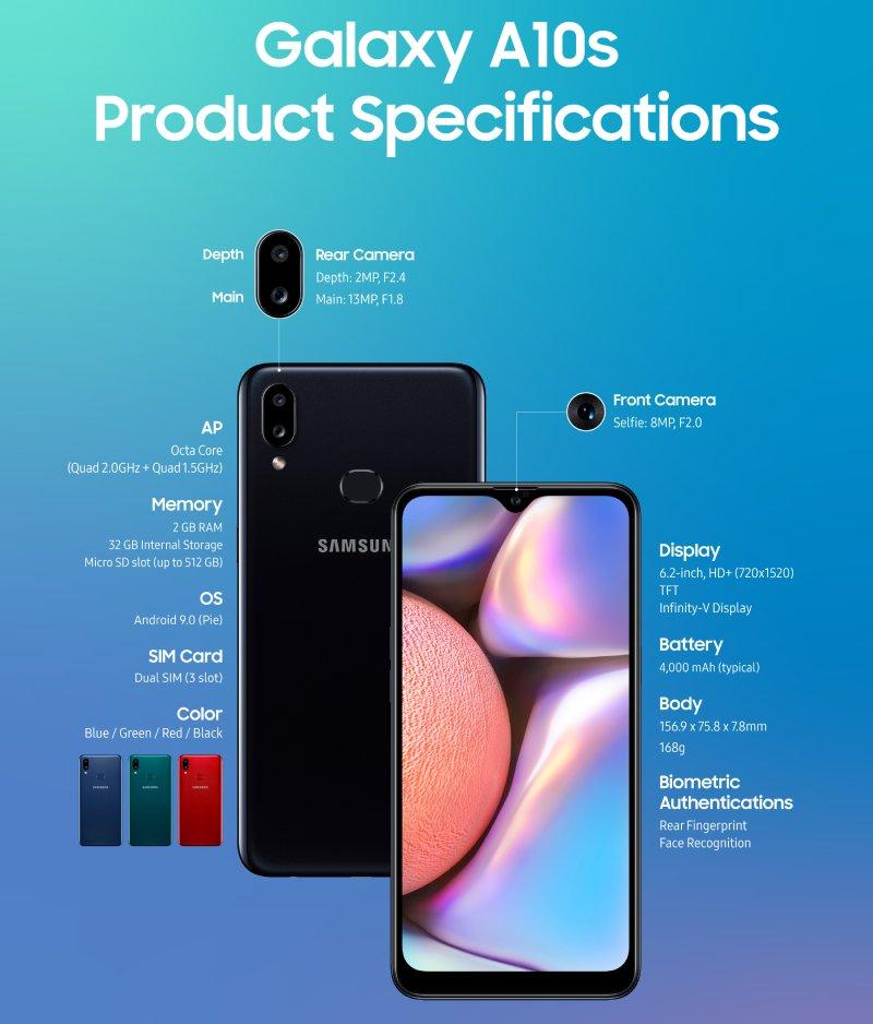 مواصفات سامسونج Galaxy A10s