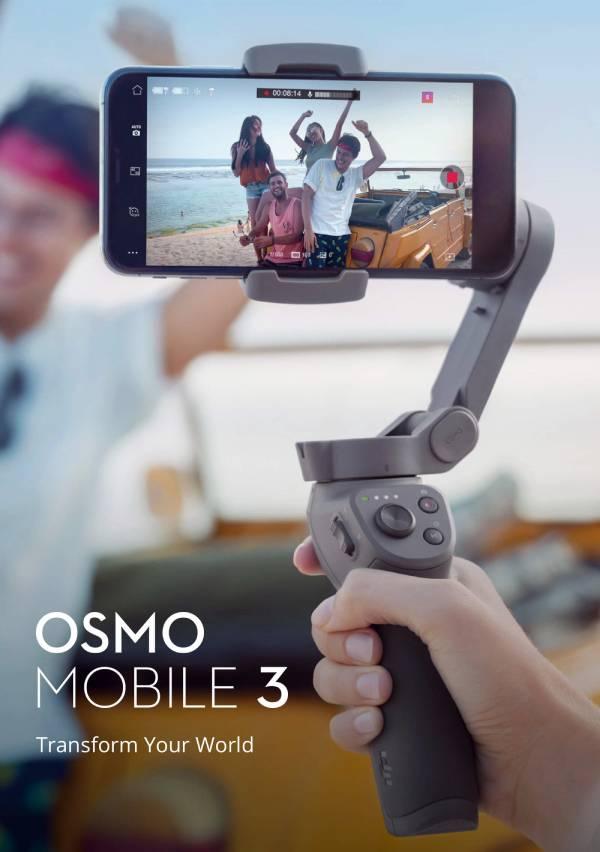 يوفر DJI Osmo Mobile 3 التقاط صور ومقاطع فيديو ثابتة في أثناء الحركة