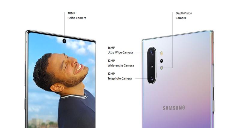 جالاكسي نوت 10 بلس  Galaxy Note10 Plus مزود بأربعة كاميرات خلفية