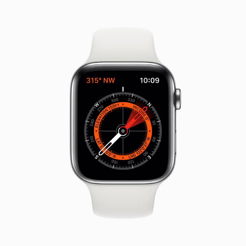 مميزات Apple Watch Series 5: تطبيق جديد للبوصلة
