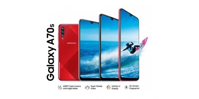 مواصفات Galaxy A70s وسعر هاتف سامسونج بكاميرا 64 ميجابكسل