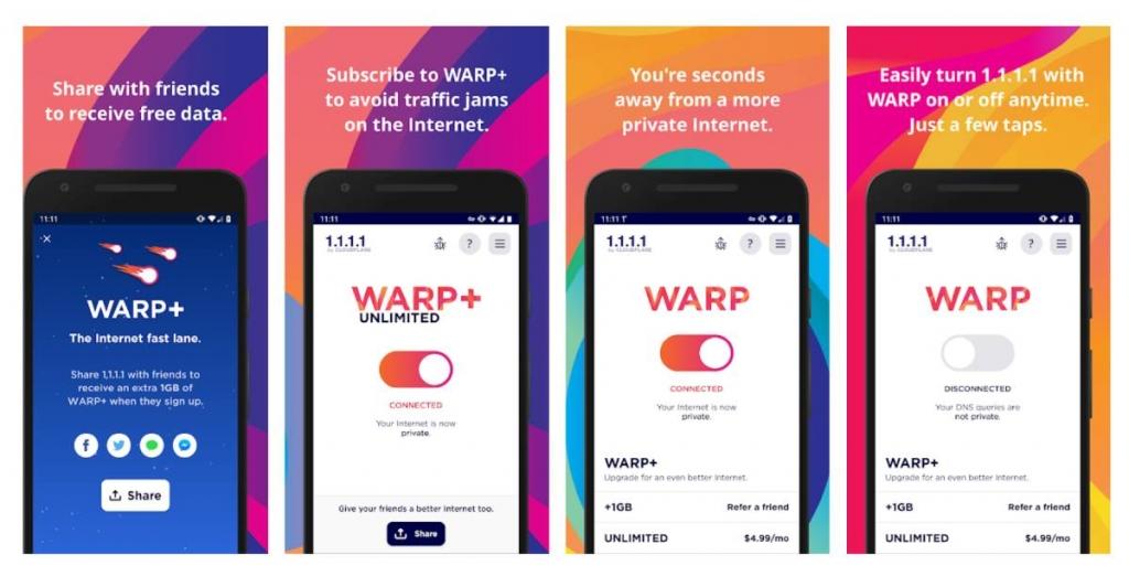 ما هي خدمة Warp