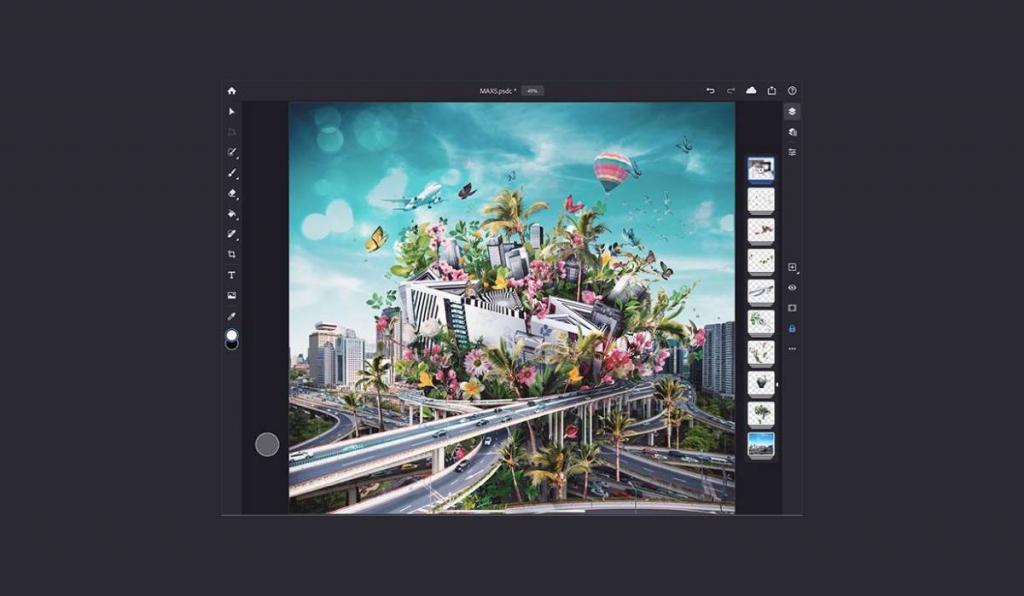 أجهزة ايباد التي تدعم تطبيق فوتوشوب الجديد