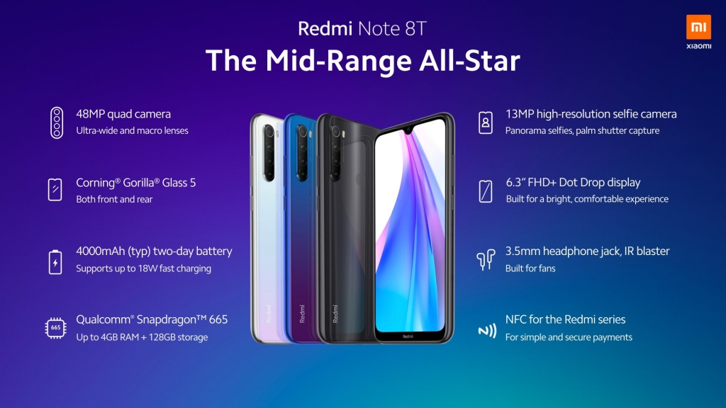 مميزات Xiaomi Redmi Note 8T